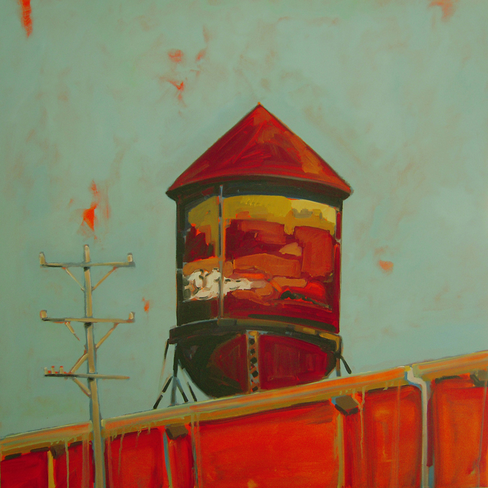 Old Water Tank oil on panel 2008 40x40 sold