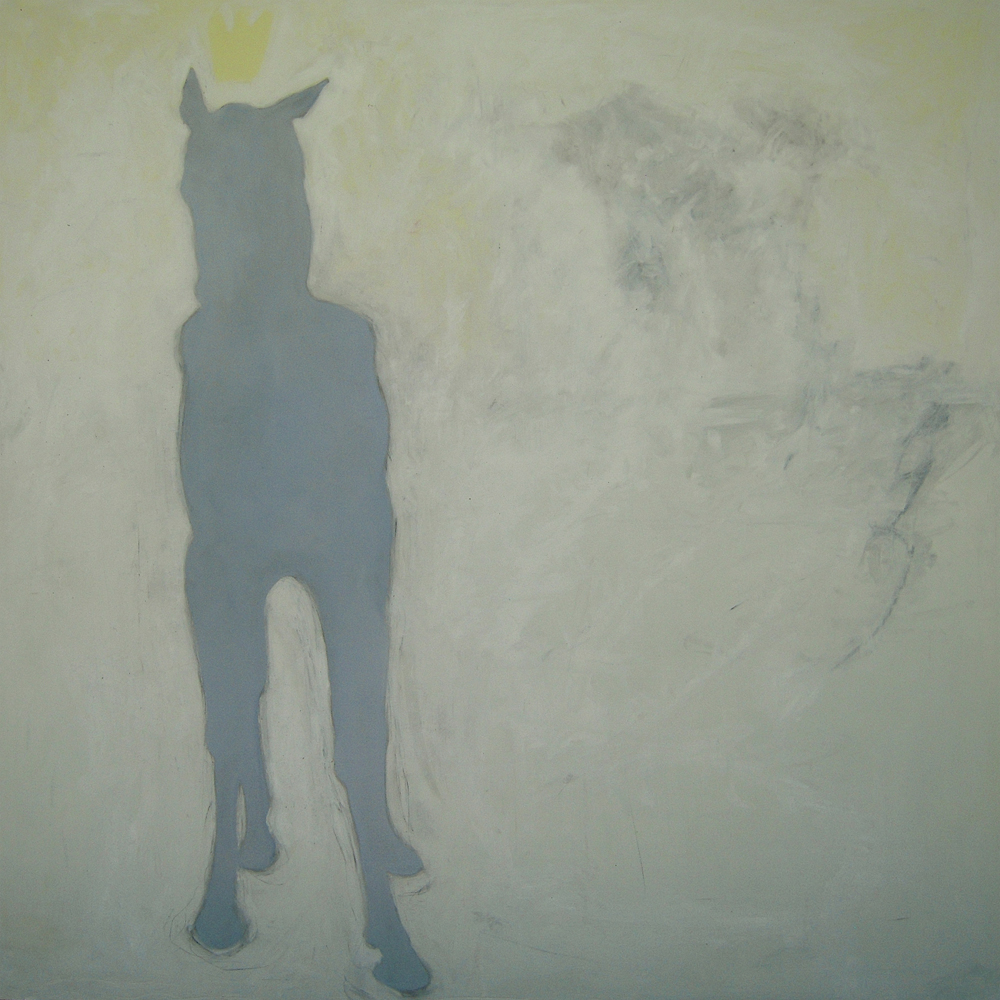 Horse crown series oil on panel 2006 46x46