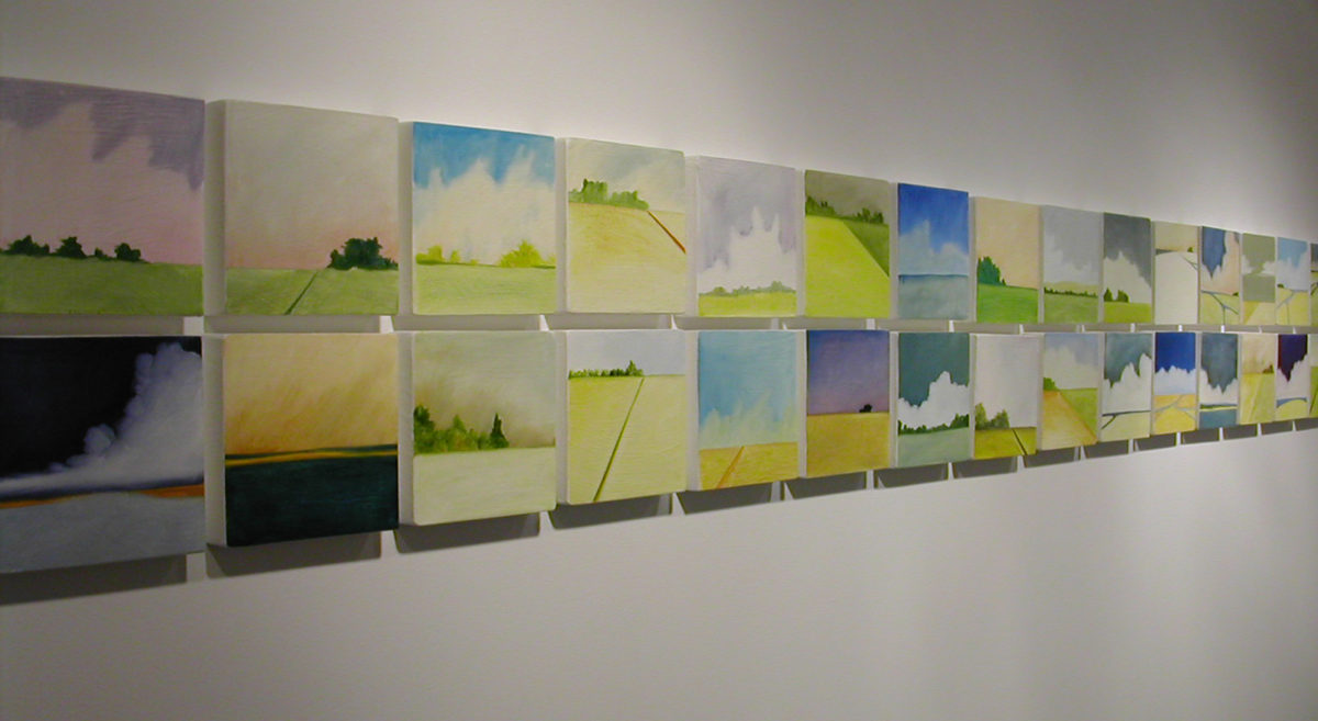 Installation: Visual Ground: Artists Paint the Landscapes They See at the Firehouse Plaza Art Gallery, Long Island, NY 2005