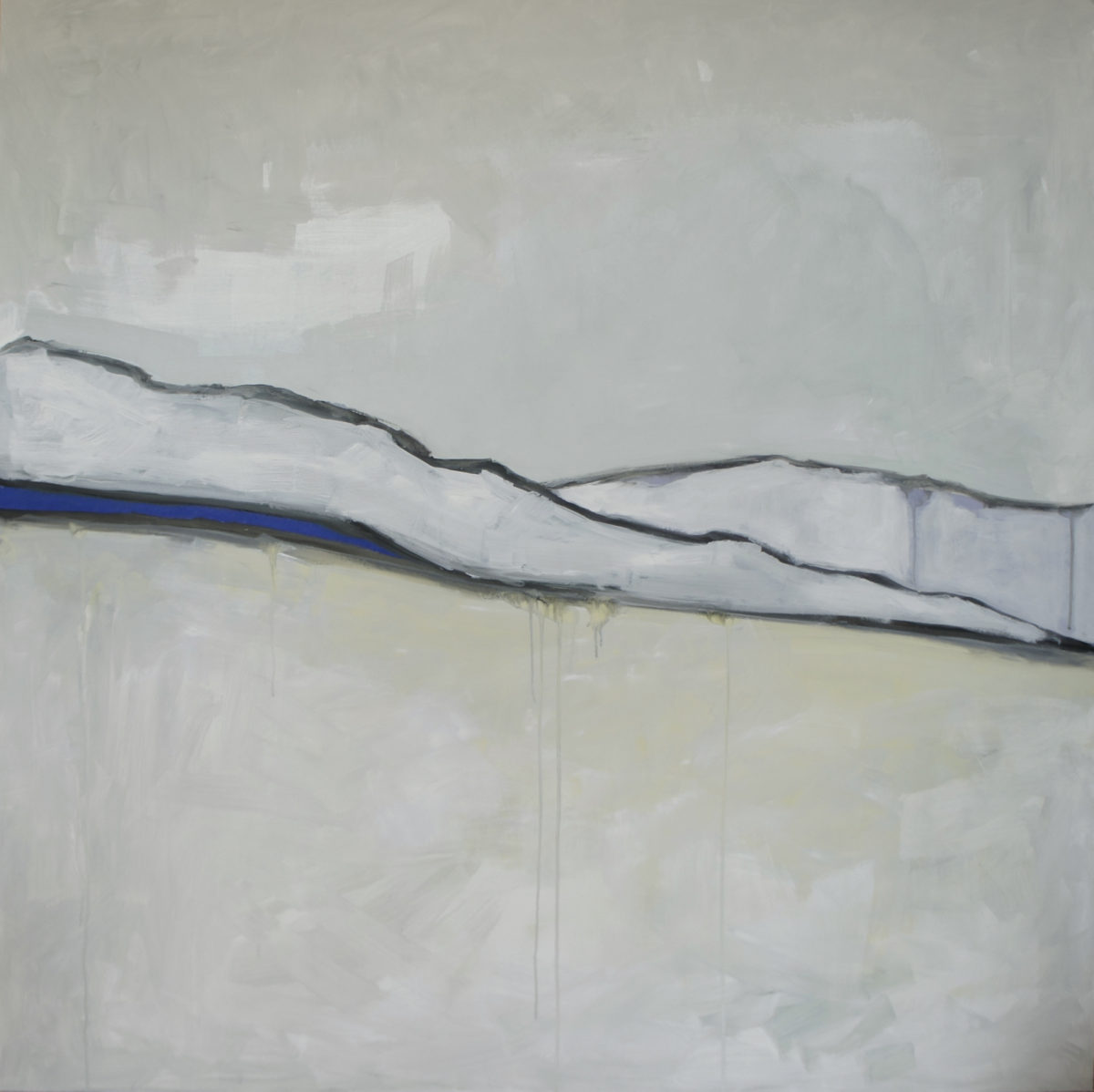 Blue Hills oil on panel 2012 46x46 SOLD