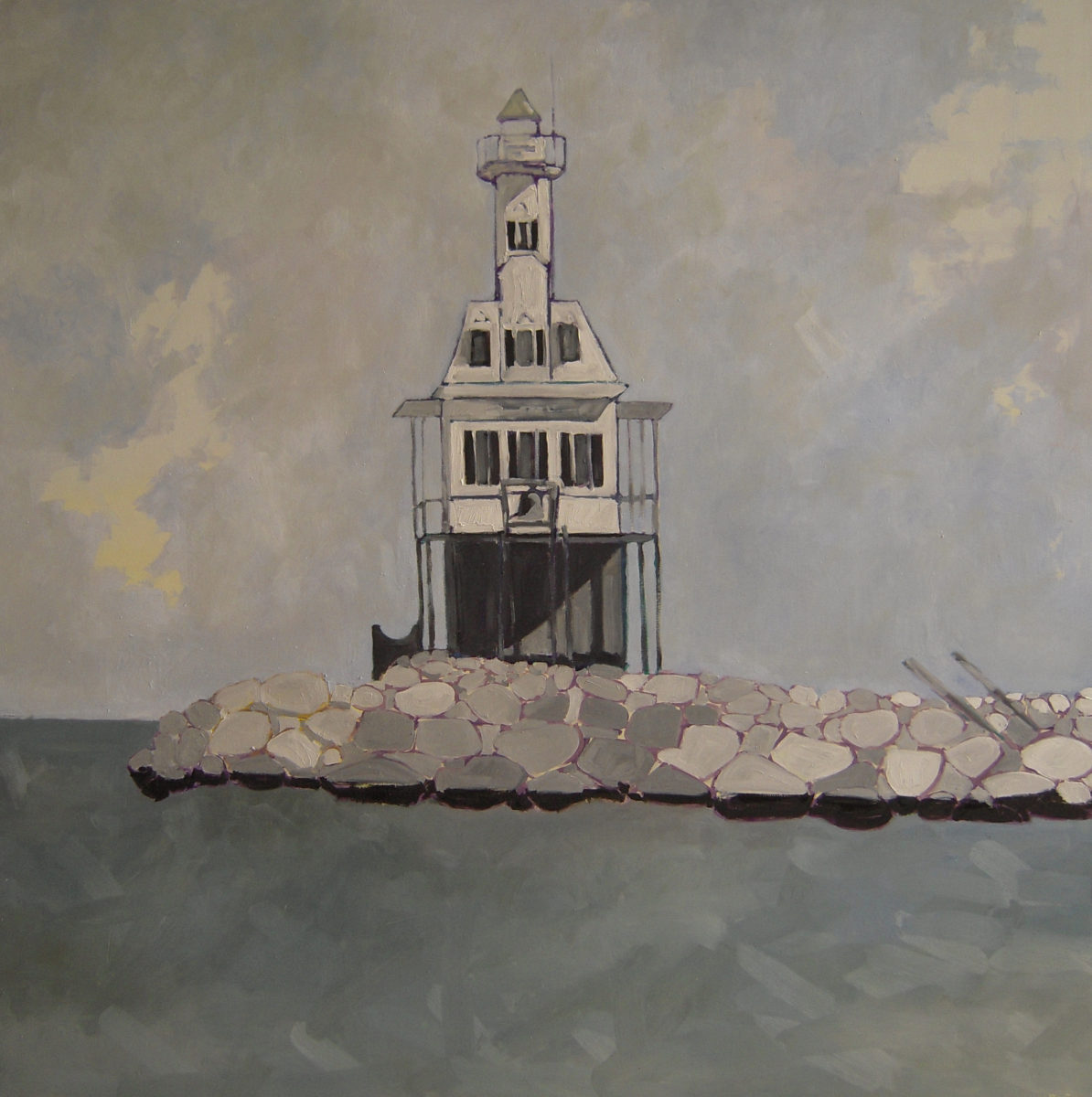 BugLight Shelter Island oil on panel 2010 46x46 sold
