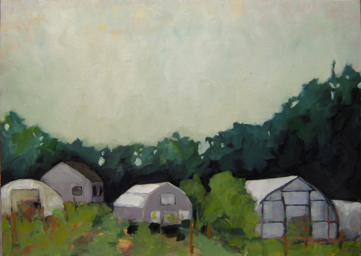 Orleans Farm oil on panel 2009 8x10 sold