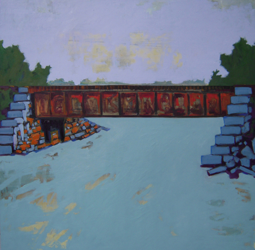 Bass River Bridge oil on panel 2009 46x46 sold