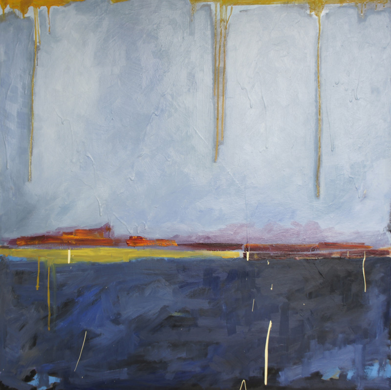 landscape #13 40x40 oil and acrylic on panel SOLD